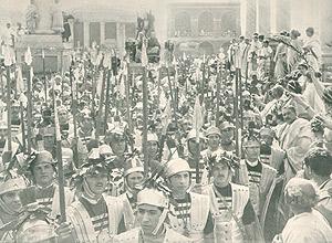 Una scena di Cajus Julius Caesar, 1914
