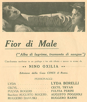 Fior di male, prima pagina brochure