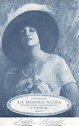 Lyda Borelli in La Donna Nuda, porgramma Teatro Cines 1914
