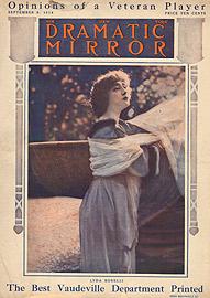 Lyda Borelli in Rapsodia satanica, copertina del N.Y. Dramatic Mirror, settembre 1914