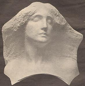 Maschera, scultura di Leonardo Bistolfi 1914