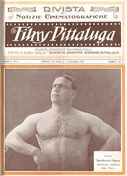 Maciste copertina della rivista Films Pittaluga 1923