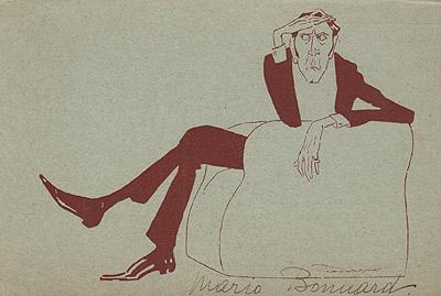 Mario Bonnard, caricatura di Properzi