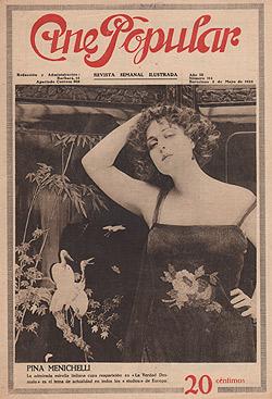Pina Menichelli in La verdad desnuda, Cine Popular 1923