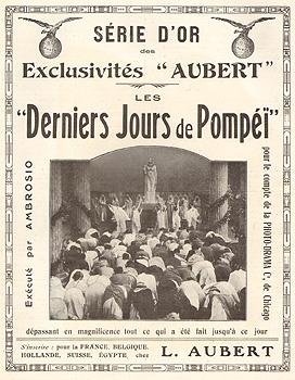 Pubblicità Ultimi giorni di Pompei, Francia 1913