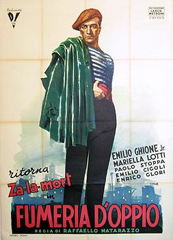 manifesto del film Fumeria d'oppio, disegno di Ciriello