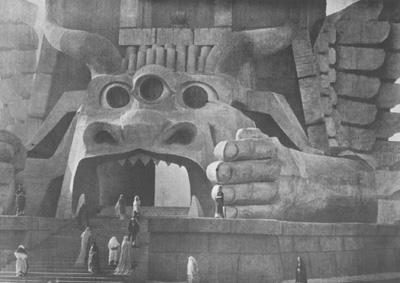 Tempio di Moloch, Cabiria 1914
