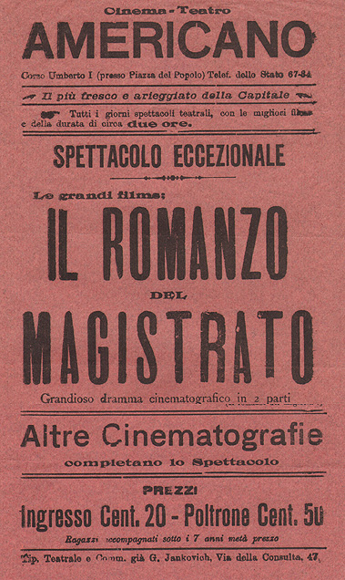 Locandina del Cinema Teatro Americano