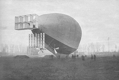 il dirigibile Leonardo da Vinci 1910