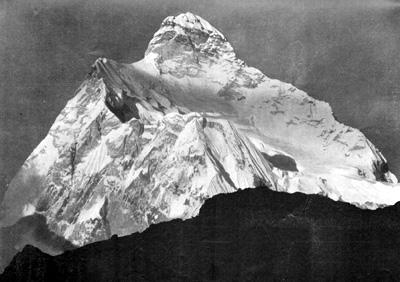 La vetta di Jannu nell'Himalaya 1910