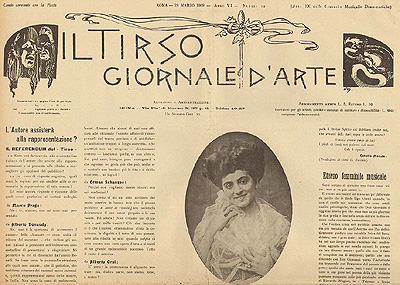 Vittoria Lepanto, Il Tirso marzo 1909
