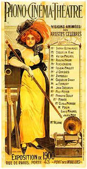 manifesto Phono Cinéma Théatre 1900