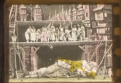 Gulliver secondo Méliès, fotogramma colorato Archivio Inpenombra