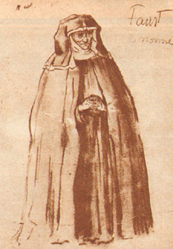 Roberto Basilici, figurino per il Faust di Murnau, 1926