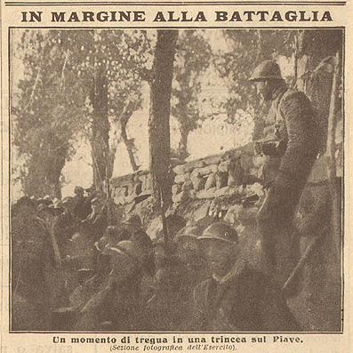 trincea sul Piave 1918