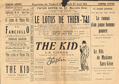 Programma Cinema Empire, Port Said 1922