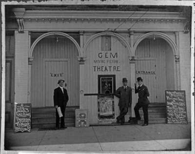 Gem Moving Picture Theatre, 1909