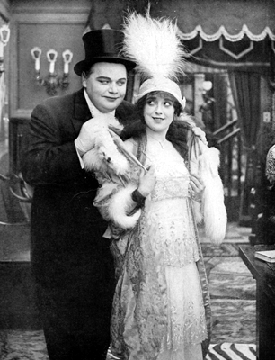 Malbel Normand and Roscoe Arbuckle