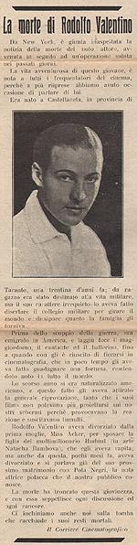 Il boicottaggio della stampa italiana a Rodolfo Valentino (2/2)