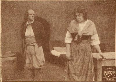 Il carnefice (Oreste Grandi) e la Fornarina (Lia Negro)