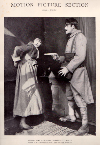 Lillian Gish and Robert Harron in a scene from D. W. Griffith's Hearts of the World
