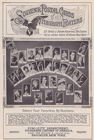 Souvenir Postal Cards Vitagraph Players, maggio 1912