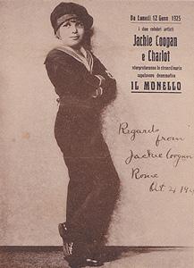 cartolina pubblicitaria del film Il monello