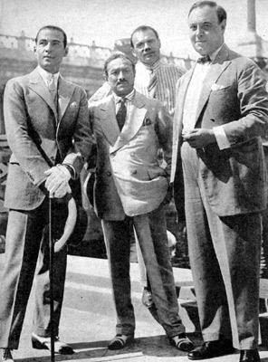 Valentino, Ambrosio, Jannings, altra foto dello stesso incontro a Roma