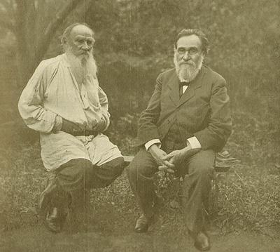 Tolstoi e Makowitzki a Jasnaya Poliana, 1910