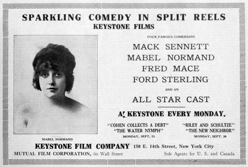Mabel Normand, Keystone Films 1912