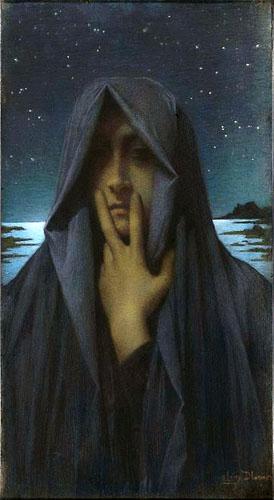 Le Silence by Lucien Lévy-Dhurmer