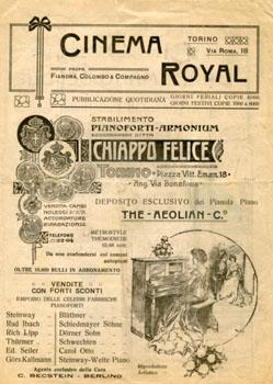 Programma del Cinema Royal