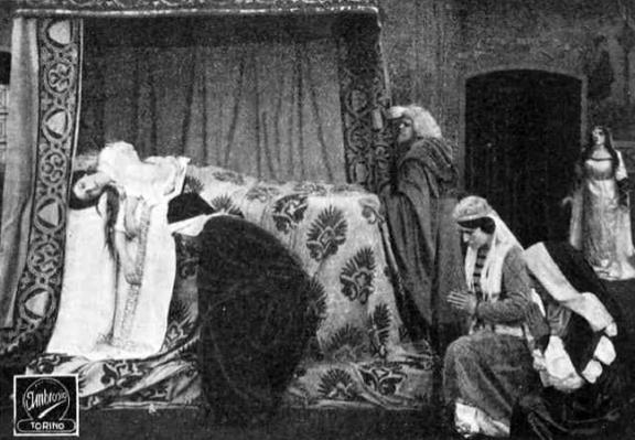 Dante e Beatrice, Soc. Anonima Ambrosio 1913