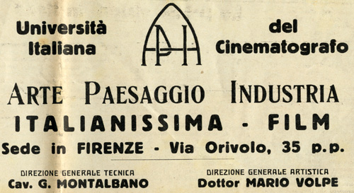 università italiana del cinematografo