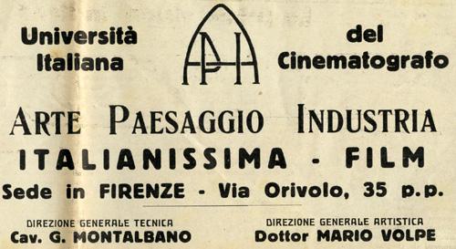 università italiana del cinematografo
