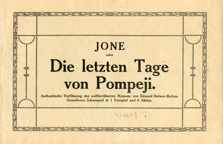 Brohure tedesca del film