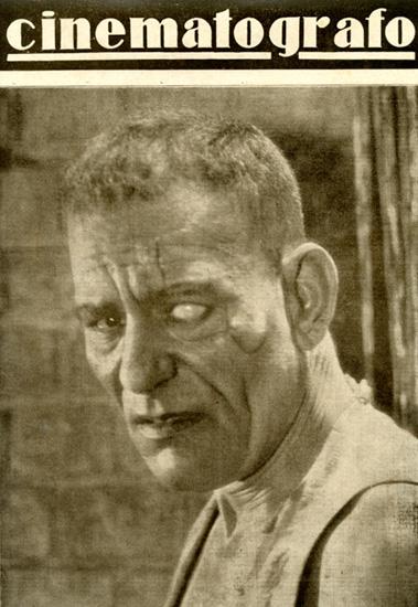 Lon Chaney nel film Il capitano di Singapore, retro-copertina della rivista cinematografo, 4 settembre 1927