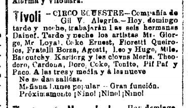 La Dinastía, Barcelona 10 janvier 1904