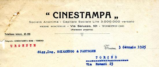 Lettera del 3 gennaio 1925