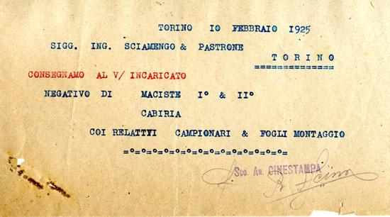 Torino, 10 febbraio 1925