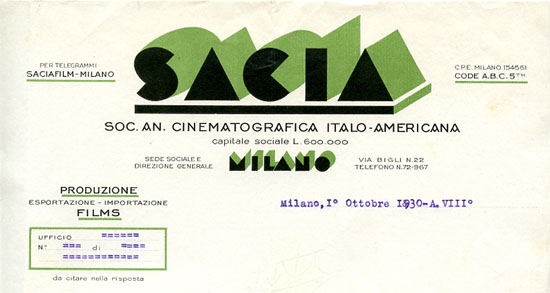 Milano, 1° ottobre 1930