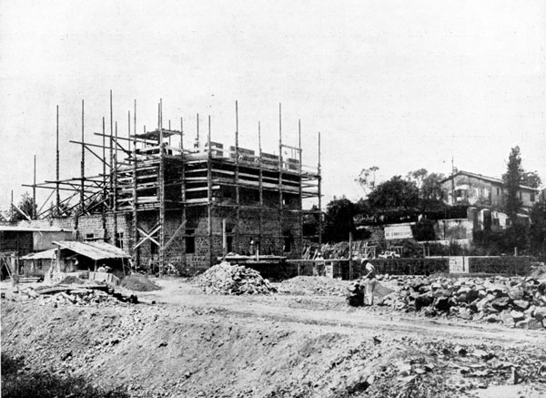 Il teatro Alberini & Santoni in costruzione