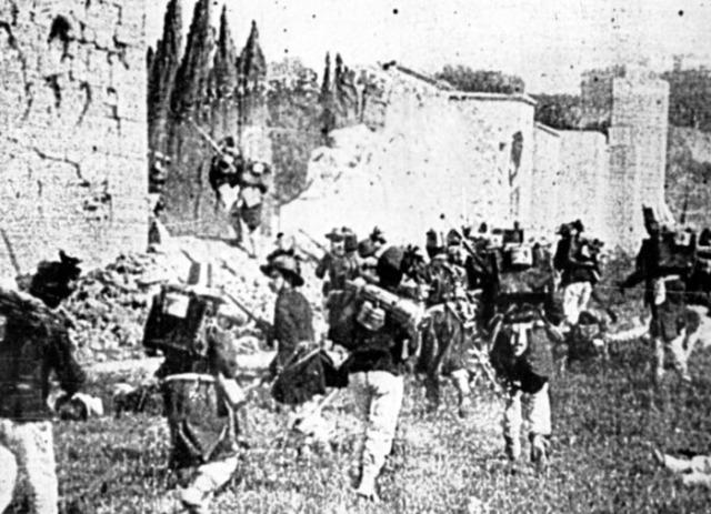 La breccia di porta Pia (La presa di Roma, Alberini e Santoni 1905)