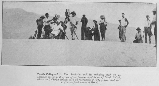 Si girano le ultime scene al Death Valley (grazie Media History digital library!)