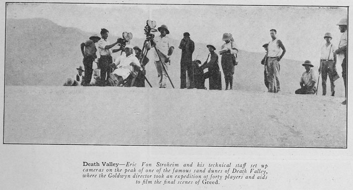 Si girano le ultime scene al Death Valley (grazie Media History digital library!)
