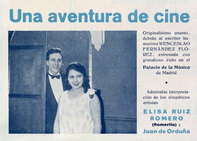 Una aventura de cine 1928
