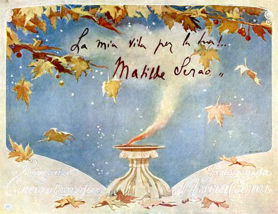 Brochure del film, disegno di M. Simonetti