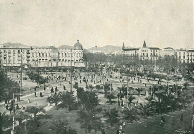 Barcelona, Plaza Cataluna 1915