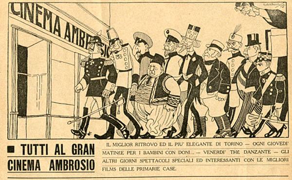 Pubblicità nella rivista Numero, Torino 1916