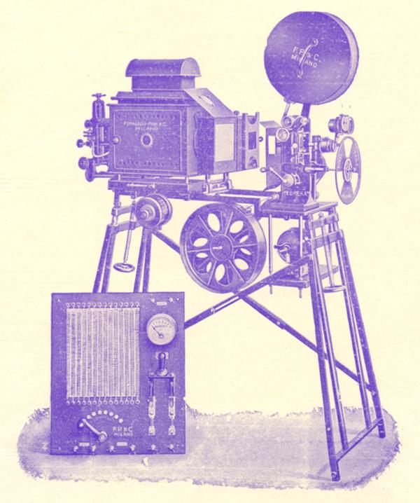 Proiettore Eureka modello 1916 (Fumagalli Pion e C., Milano)